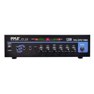 PyleHome PT210 120W Microphone PA Mono Amplifier with 70V Output and Mic Thumbnail 2
