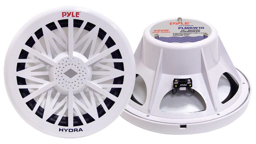 "Pyle PLMRW8 8"" 20cm 400W 4 Ohm Marine WaterProof ABS Subwoofer Sub Bass Speaker"