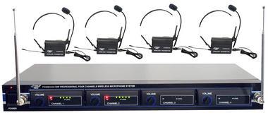 PYLE-PRO PDWM4400 - 4 Mic VHF Wireless Lavalie/ Headset System Thumbnail 2