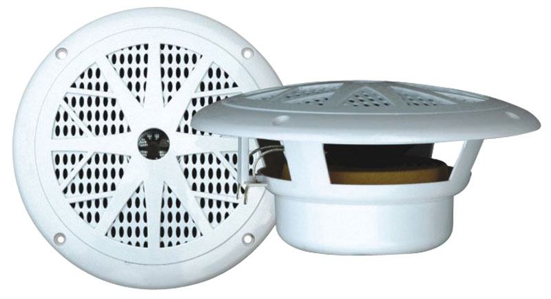 "Pyle PLMR61W WaterProof 120W 6.5"" Inch 2 Way Marine Boat In Wall Cabin Speakers"