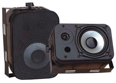 Pyle PDWR40B Indoor Outdoor Waterproof Bookshelf Wall Mount Hi-Fi Patio Speakers Thumbnail 2