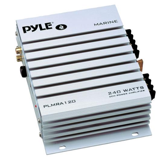 Pyle PLMRA120 2 Channel 240W WaterProof Marine Boat 12v Speaker Amplifier Amp