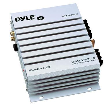 Pyle PLMRA120 2 Channel 240W WaterProof Marine Boat 12v Speaker Amplifier Amp Thumbnail 1