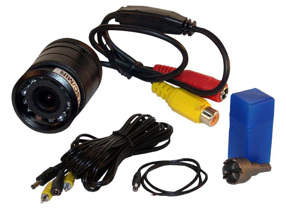 Pyle PLCM22IR Flush Surface Mount Universal Rear View Camera IR Night Vision
