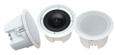 Pyle-Home PDPC62 6 1/2'' In-Ceiling 2-Way Flush Mount Enclosure Speaker System Thumbnail 2