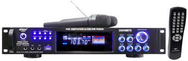 Pyle PWMA3003T Pyle 3000 Amp Tuner Wireless Microphone Hi-Fi Reciever Thumbnail 2