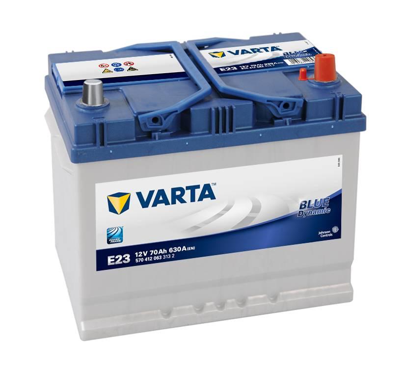 Varta E23 Heavy Duty 12 Volt 068 70Ah 630CCA 4 Year Alfa Daewoo Hyundai Nissan Toyota Car Battery