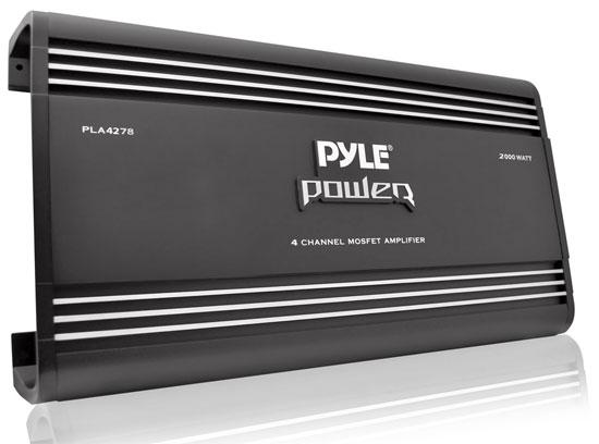 Pyle Power 4 Ch Four Channel 2000w Black Bridgeable Car Speaker Amplifier Amp