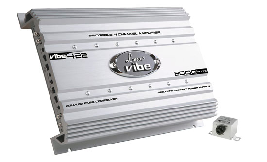 Lanzar VIBE422 Vibe 2000w 4  Channel Mosfet Car 12v Speakers Amplifier