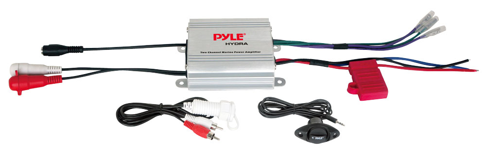 Pyle PLMRMP1A 2 Channel WaterProof iPod MP3 Marine Boat 12v Power Amplifier