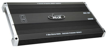 Lanzar Max 2 Ch Two Channel Stereo 5000w Bridgeable Car Speaker Amplifier Amp Thumbnail 1