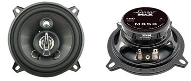 "Lanzar MAX 5.25"" 13cm 130mm 140w Coaxial Three Way Pair Car Door Shelf Speakers Thumbnail 2"