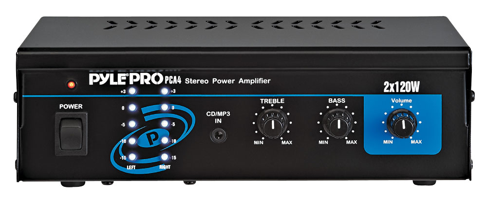 Pyle-Home PCA4 Mini 2x120 Watt Stereo Power Amplifier