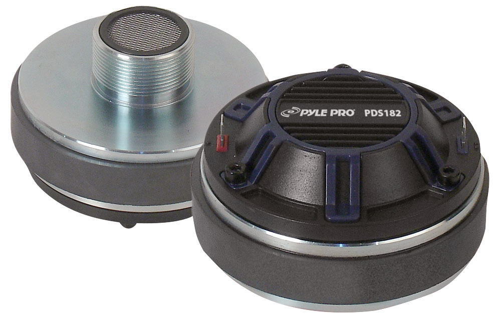 Pyle PDS182 Compression Driver Tweeter Pro Audio Speaker Replacement DJ Disco