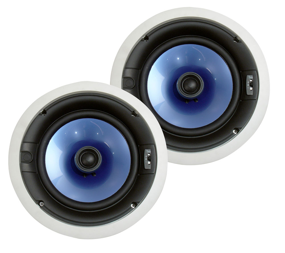 "Pyle PIC8E 8"" Inch 300 Watt In Wall Ceiling Home Audio Cinema Speakers"