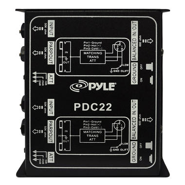 Pyle-Pro PDC22 Dual 1/4'' Instrument To Balanced & Unbalanced (1/4''/XLR) Direct Box Thumbnail 2