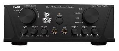 Pyle PVA2 60w Stereo Hi-Fi Mini iPod Amp Amplifier Witb Mic Microphone Input Thumbnail 2