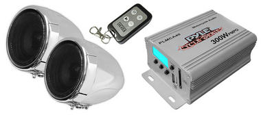 PLMCA40 MTV Motorcycle Boat Sound 2 Speakers + Amplifier MP3 USB Amp Package Thumbnail 2