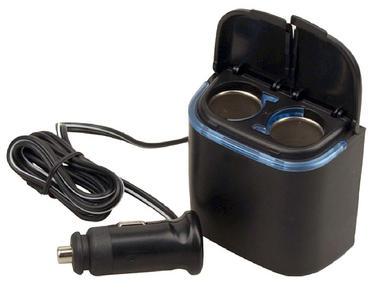 Pyle PL12V2CP Plug In Car 1 TO 2 12v Port Cigarette Lighter Multiplier Adapter Thumbnail 2