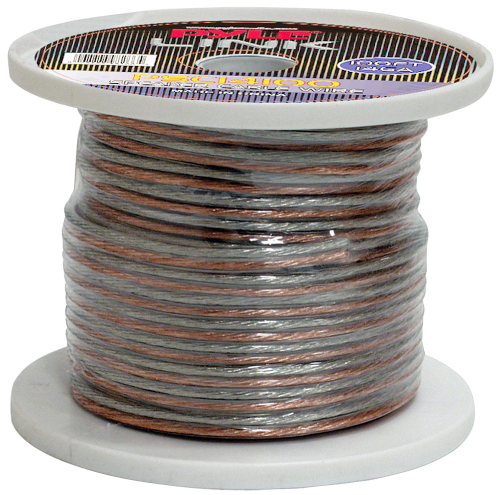 Pyle PSC14100 14 Gauge 100 ft. Spool of High Quality Speaker Zip Wire