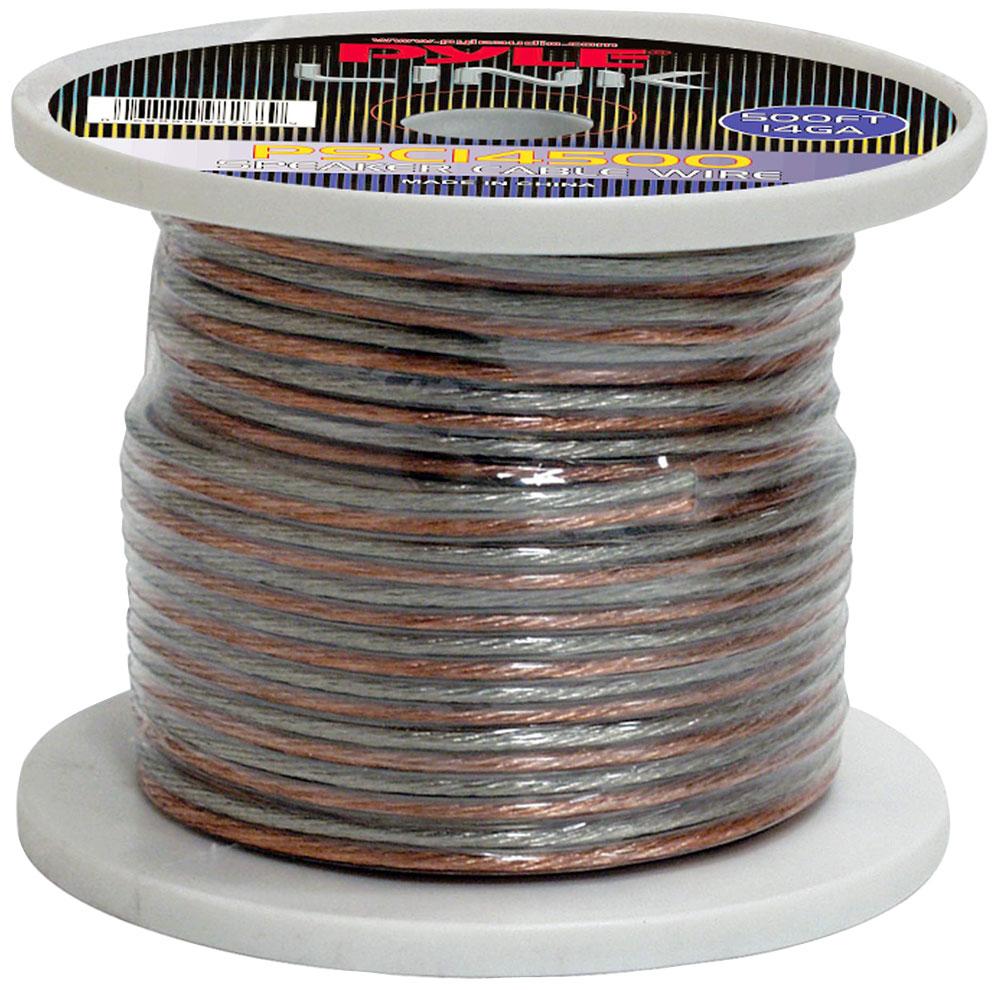 Pyle PSC14500 14 Gauge 500 ft. Spool of High Quality Speaker Zip Wire