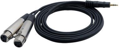 Pyle-Pro PCBL38FT6 6 Ft 12 Gauge 3.5mm Male To Dual XLR Female Cable Thumbnail 2