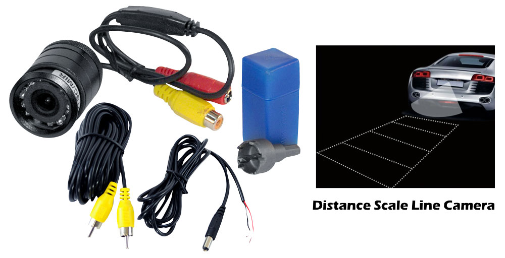 Pyle PLCM39FRV Universal Mount Car Rear & Front View TV Video Camera Kit