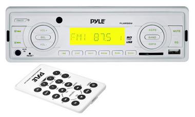 Pyle PLMR88W AM/FM-MPX In Dash Marine MP3 Player/USB & SD Card Function Thumbnail 2