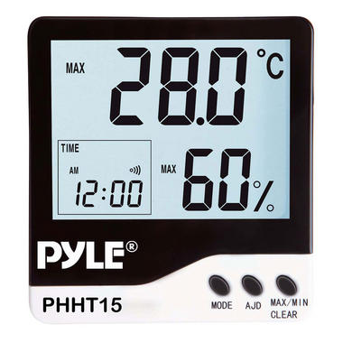 Pyle PHHT15 Digital Hygro Thermometer Humidity Meter Indoor Weather Station Thumbnail 2