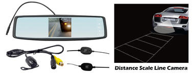 Pyle PLCM4300WIR Touchscreen Rear View Mirror Monitor Reverse Camera System Thumbnail 2