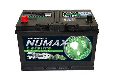 Numax LV26MF Heavy Duty Maintenance Free Leisure Marine Battery 100 Ah 800 CCA