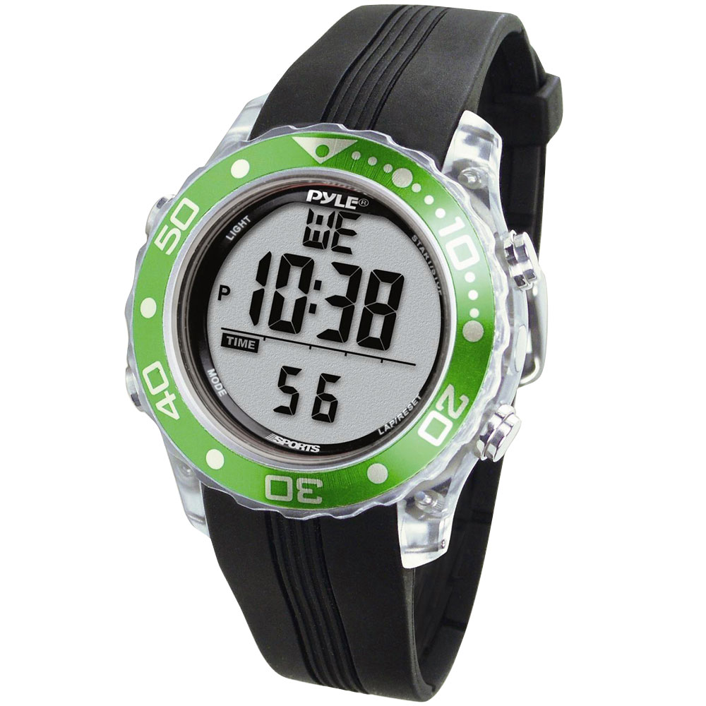 Pyle PSNKW30GN Snorkeling Swimming Sports Diving Watch Depth Temp Meter