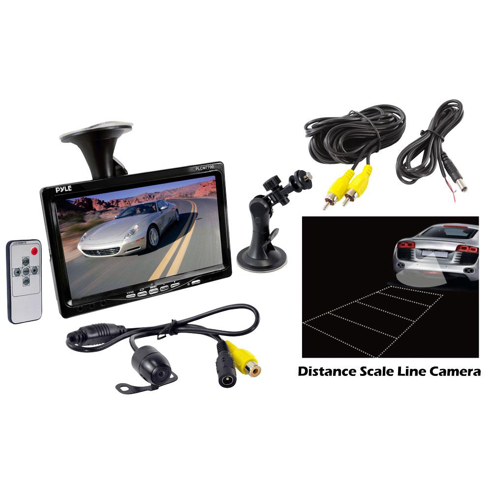 "Pyle PLCM7700 7"" Window Mount Monitor & Reversing Rear View Camera"