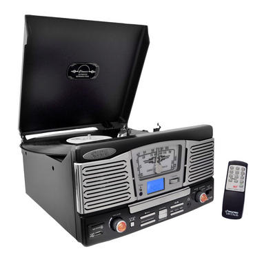 PyleHome PTCD8UB Retro Style Turntable with CD/Radio/USB/SD/MP3/WMA Vinyl Thumbnail 2