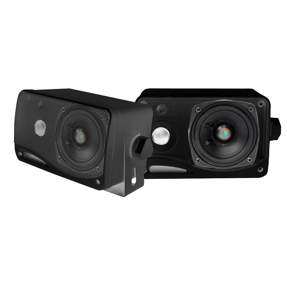 "Pyle PLMR24B 3.5"" 200w 3-Way Weather Proof Mini Box Speaker System (Black)"