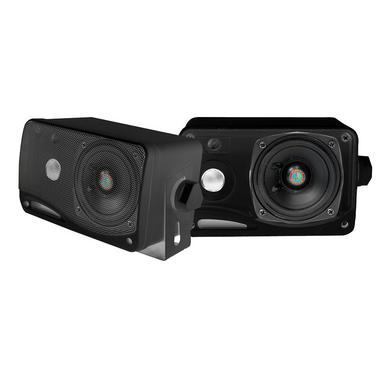 "Pyle PLMR24B 3.5"" 200w 3-Way Weather Proof Mini Box Speaker System (Black) Thumbnail 2"