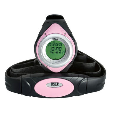 Pyle PHRM38PN Pink Heart Rate Monitor Watch W/Calorie Counter & Target Zones Thumbnail 2