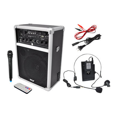 Pyle PWMA170 Dual Microphone 400w Wireless PA System Busking Battery Powered Thumbnail 2