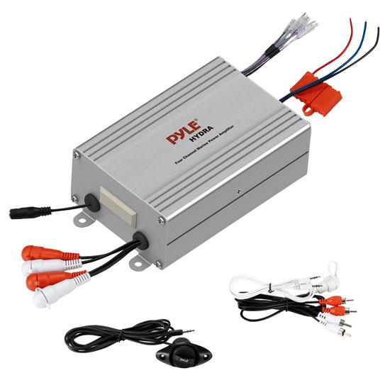 Pyle PLMRMP4A 4 Channel WaterProof iPod MP3 Marine Boat 12v Power Amplifier