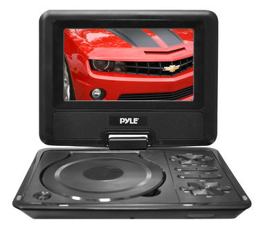 Pyle PDH7 7'' Portable TFT LCD Monitor w/ Built-In DVD Player MP3/MP4/USB SD Slot Thumbnail 2