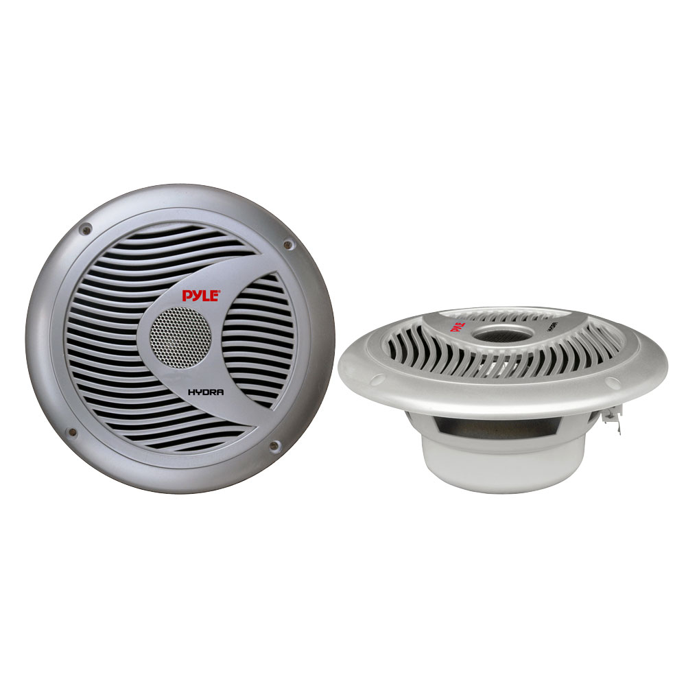Pyle PLMR60S 150w 6.5'' 2 Way Marine Boat Speakers (Silver Color)