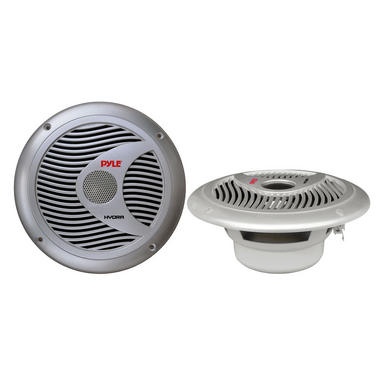 Pyle PLMR60S 150w 6.5'' 2 Way Marine Boat Speakers (Silver Color) Thumbnail 2