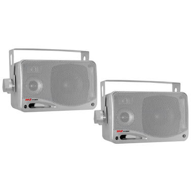 "Pyle PLMR24S 3.5"" 3-Way WaterProof Marine Boat Patio Outdoor Speakers Thumbnail 2"