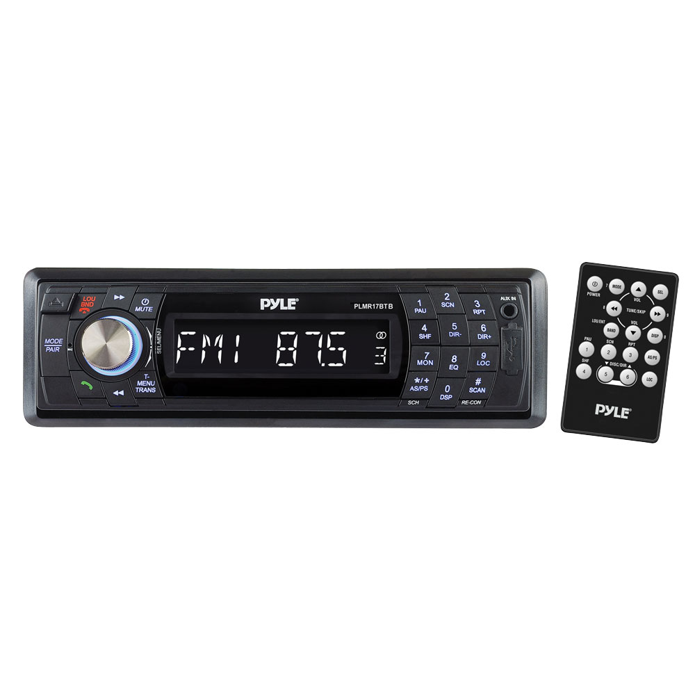 Pyle PLMR17BTB AM/FM Marine Detachable Face Radio w/SD/MMC/USB & Bluetooth
