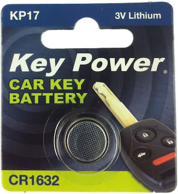 Key Power CR1632 Car Alarm Fob Battery Replacement Long Life Single