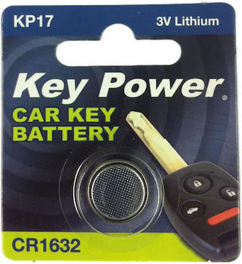 Key Power CR1632 Car Alarm Fob Battery Replacement Long Life Single Thumbnail 1