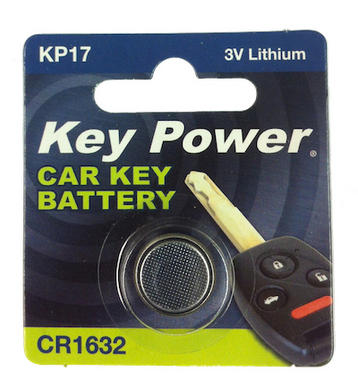 Key Power CR1632 Car Alarm Fob Battery Replacement Long Life Single Thumbnail 2