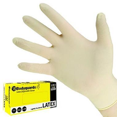 Bodgl8182B Gl8182 Body Guards Polyco Medium Disposable Latex Gloves Thumbnail 1