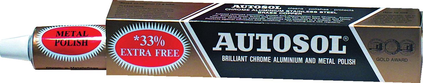 Autosol GRA0400 Autosol Brilliant Chrome Aluminium And Metal Polish