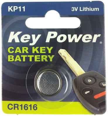 Key Power CR1616 Car Alarm Fob Battery Replacement Long Life Single
